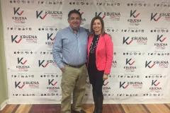 Con Monica Linares