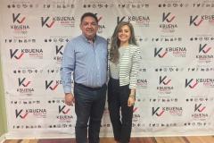 Con Beatriz Zuñiga