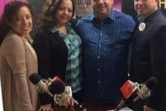 Con Martha Osorio y su equipo